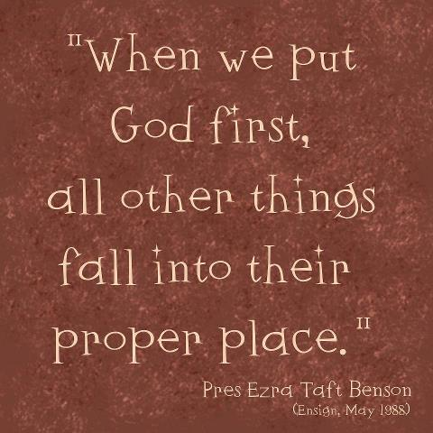 when we put God first