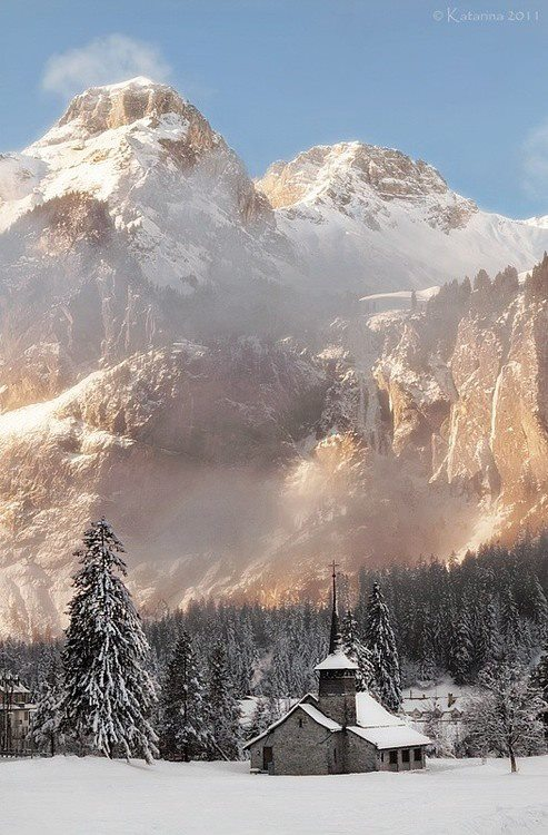 church among mountains
