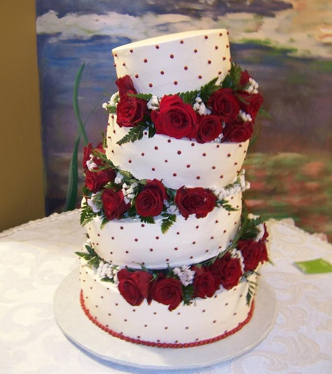 Wedding-cakes-with-roses-wedding-rose